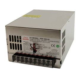 Enclosed panel 500W, 24V power supply
